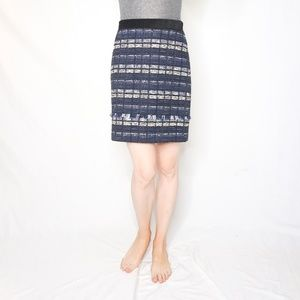 PROENZA SCHOULER Fringe Trim Tweed Skirt 1036
